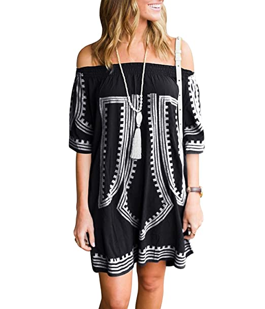 Initial Coverup Dress For Women Bathing Suit Coverup Off Shoulder
