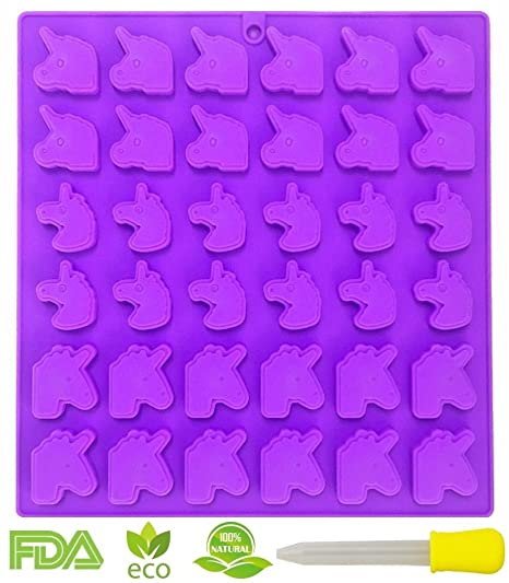 Moldes de unicornio de goma, 36 moldes de gelatina, moldes de gelatina, moldes