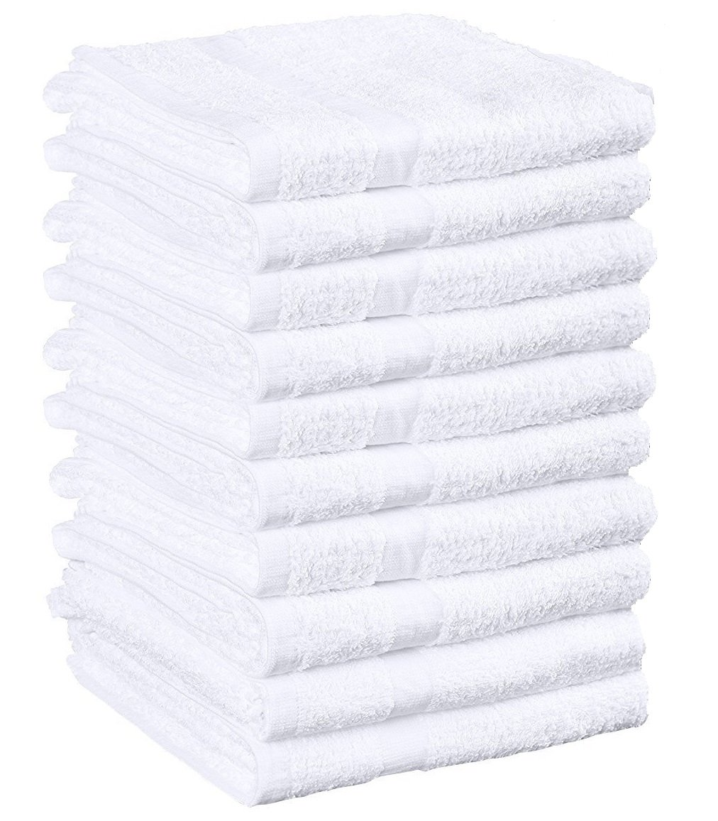 Weaved Collection White Hand Towels, Basic Cotton 100% Cotton 12 Pack,15''x 25'' by WC Weaved Collection (Image #2)