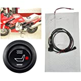 Universal Motorcycle ATV UTV E-BIKE Carbon Fiber Seat Heater Warmer 12v Carbon Fiber Round High-low Switch Heating Pad