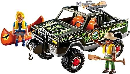 PLAYMOBIL Wild Life Adventure Pickup Truck 2pieza(s) Figura de construcción - Figuras de construcción (Multicolor,, 4 año(s), 10 año(s), Niño/niña, 2 Pieza(s))