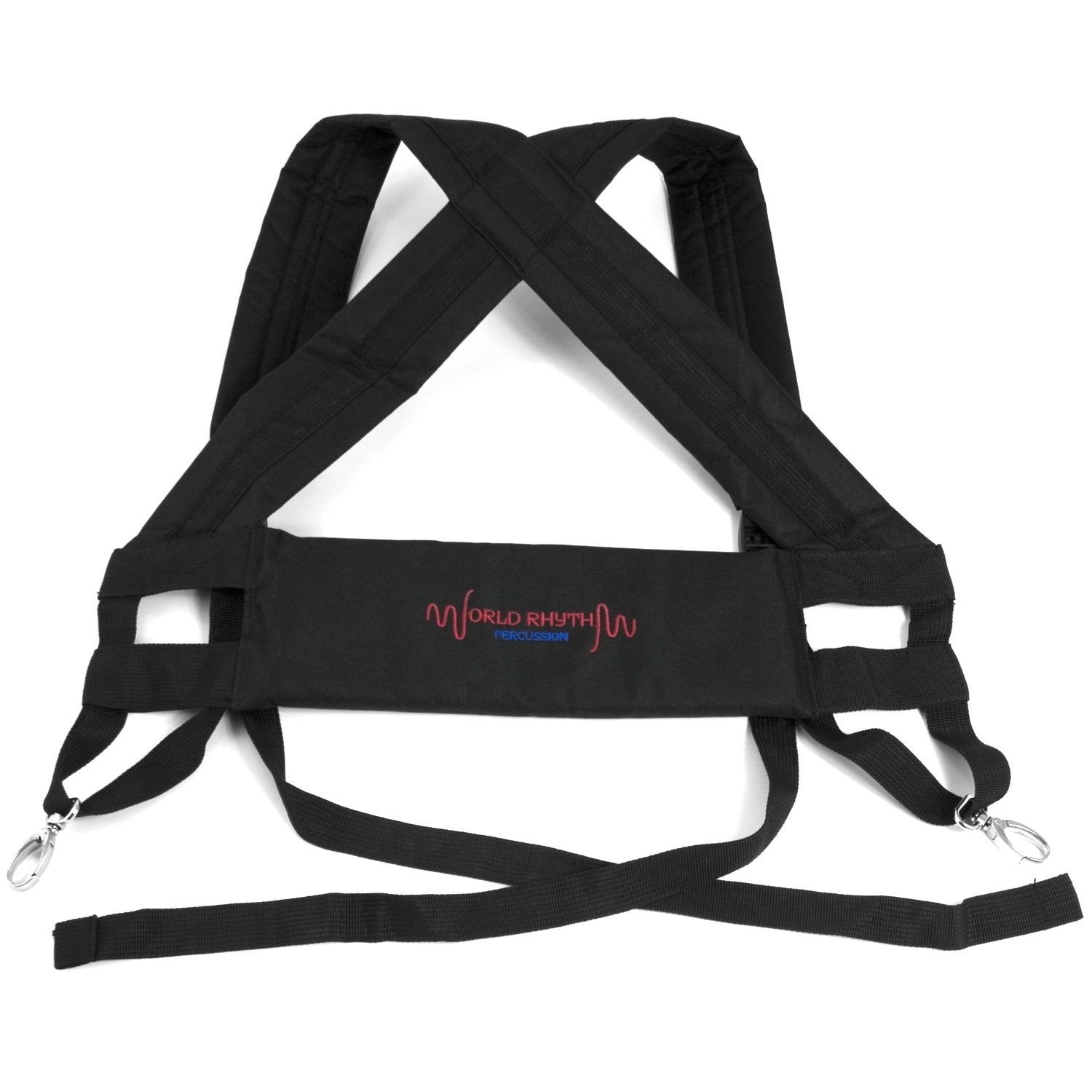World Rhythm Djembe Drum Harness - Padded Carry Straps Black - Suitable for All Size Djembes World Rhythm Percussion MDJ069