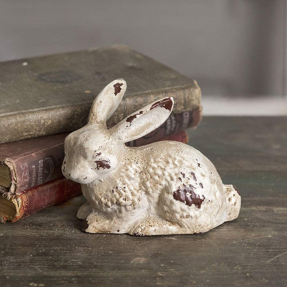 CTW Home Collection Cast Iron Bunny Statue