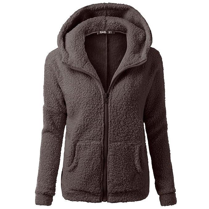 wholesale dealer e3c13 2c79d Moments XIE Women Hooded Sweater Winter Warm Wool Zipper ...