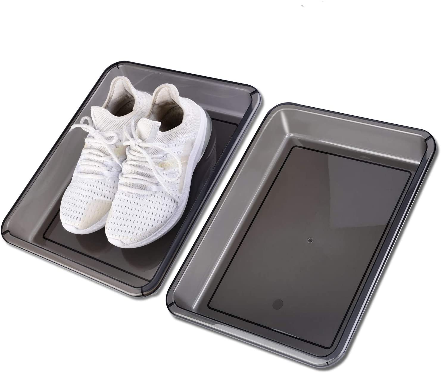 "Boot Mat Tray For Heavy Duty Floor Protection-Pet Bowls-Paint-Dog Bowls, Multi-Purpose,car, Shoes, Pets, Garden - Mudroom, Entryway, Garage-Indoor And Outdoor Friendly (15.0''x11.8""x2.25"" 2ps)"