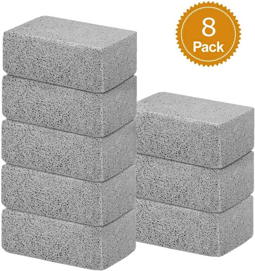 Ajmyonsp 8Pack Grill Griddle Cleaning Brick Block Brick-A Magic Stone Pumice Grilling Cleaner Accessories for BBQ Grills, Racks, Flat Top Cookers