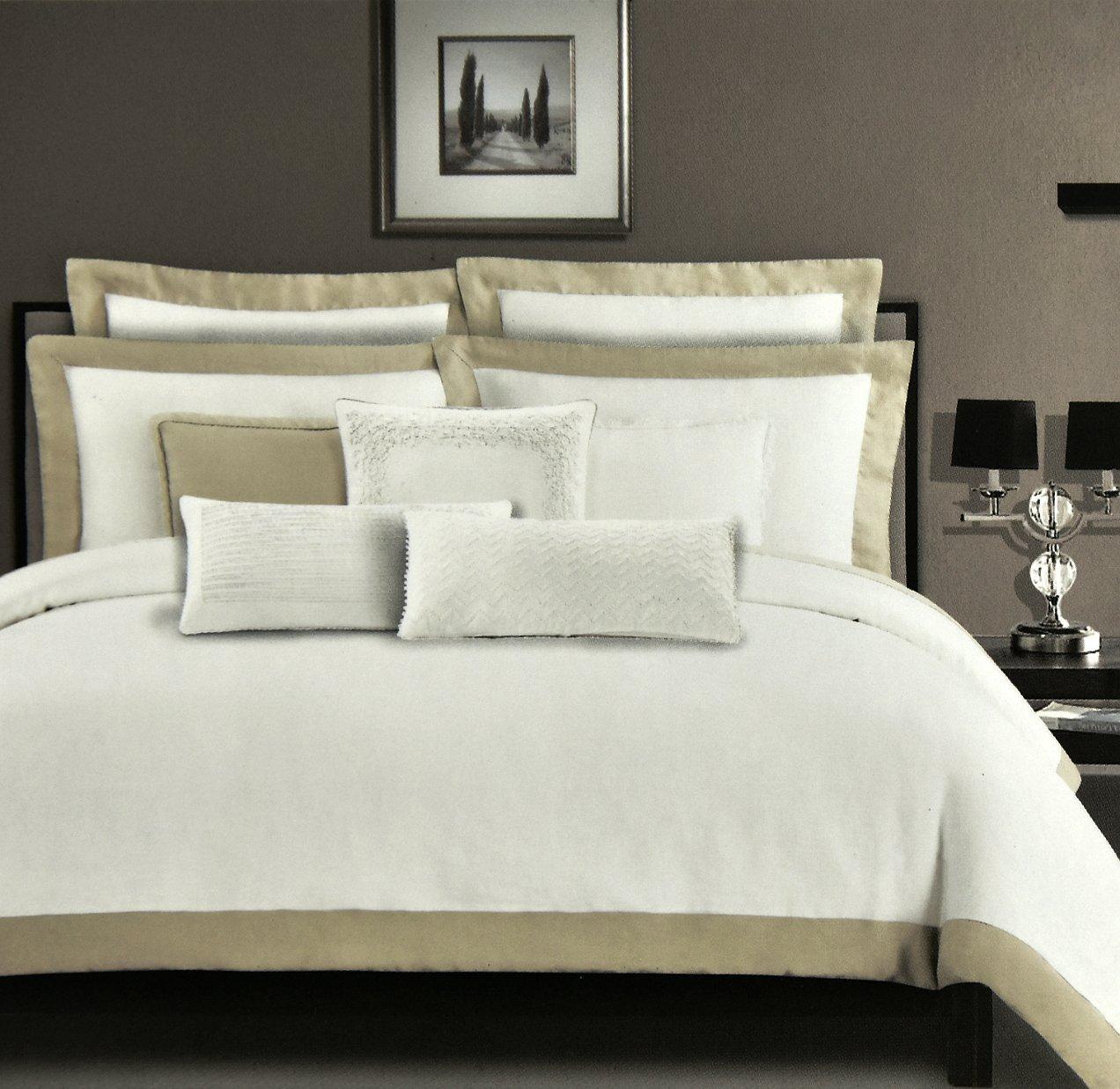 Tahari Sheets Sale: Tahari Stone Washed Pure Linen Luxury Duvet Cover 3pc