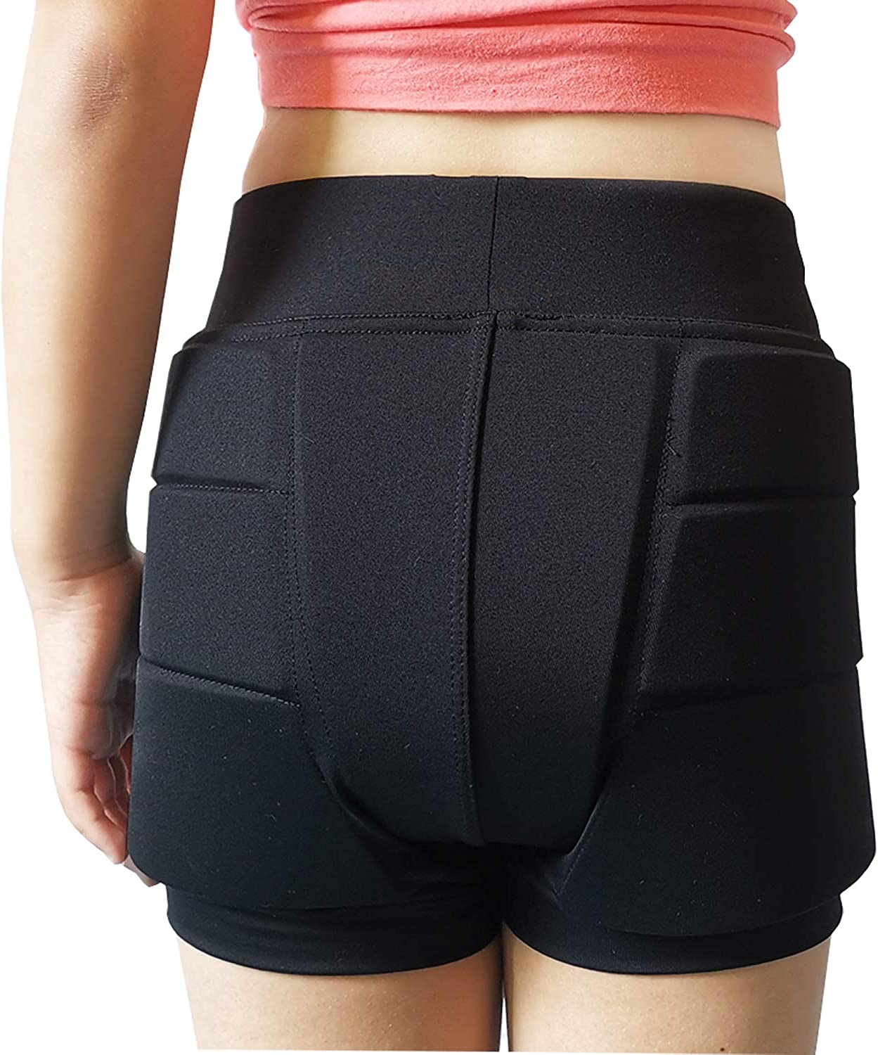 Youper Girls Protective Padded Shorts for Skating, Skateboarding, 3D Protection for Hip & Tailbone: Clothing