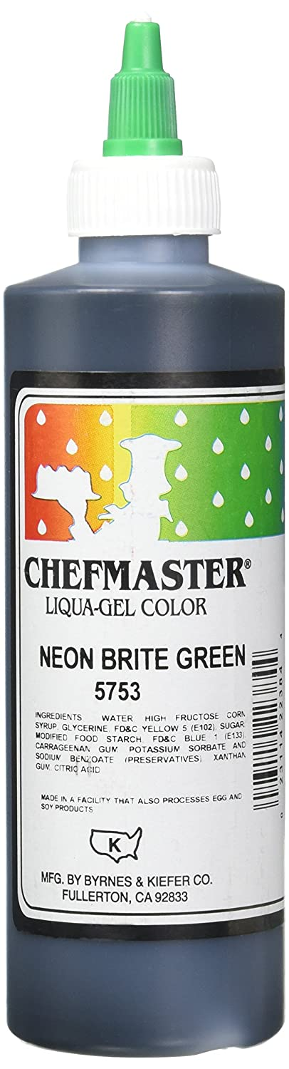 Chefmaster Liqua-Gel Food Color, 10.5-Ounce, Neon Brite Green
