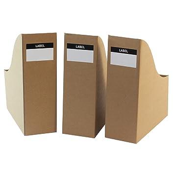 Organizadores de escritorio de cartón para archivos, juego de 3: Amazon.es: Oficina y papelería