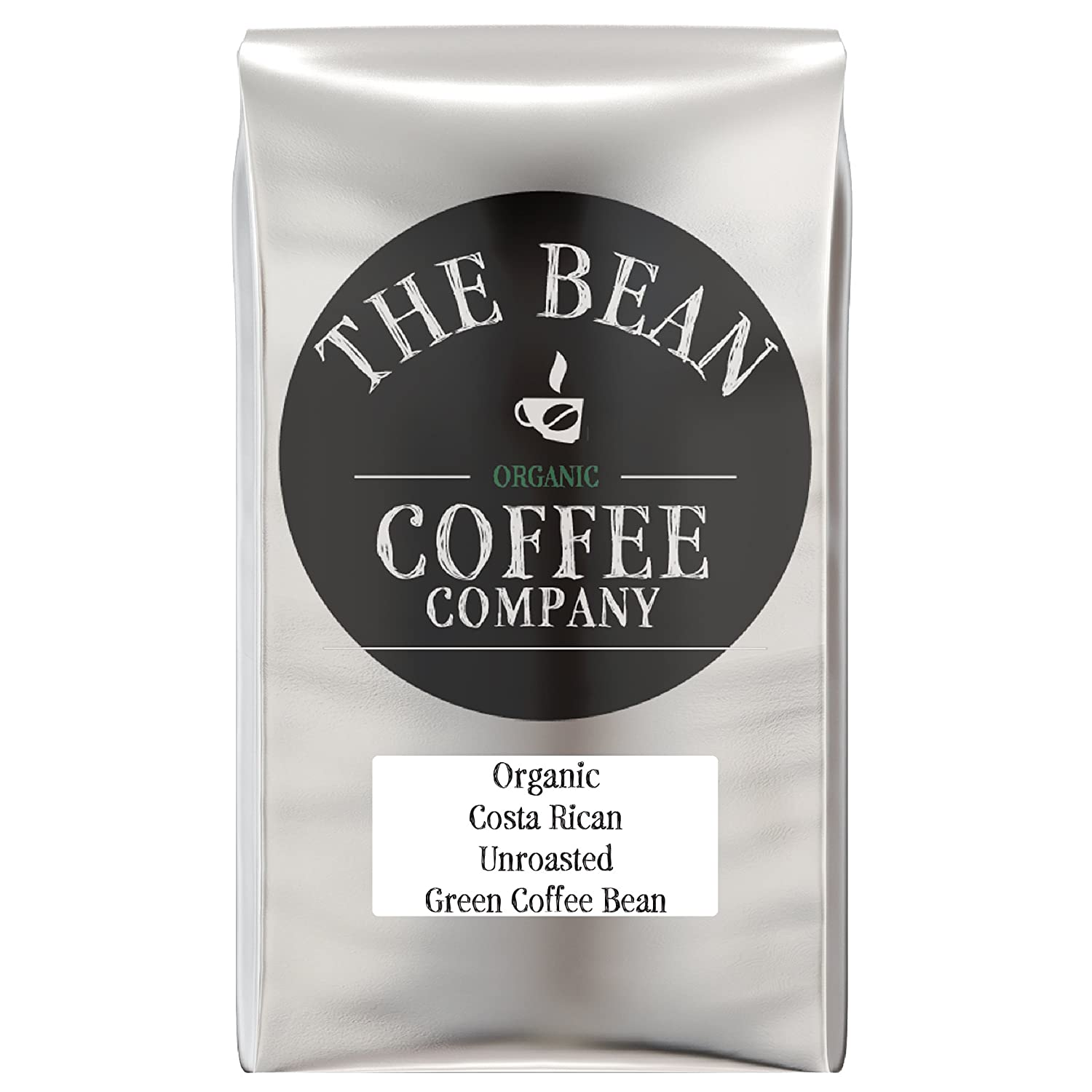 The Bean Coffee Company Organic Decaf Unroasted Green Coffee Beans, 16-Ounce