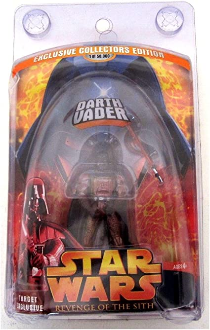 Amazon Com Star Wars Revenge Of The Sith Target Exclusive Lava Darth Vader 1 0f 50000 Toys Games