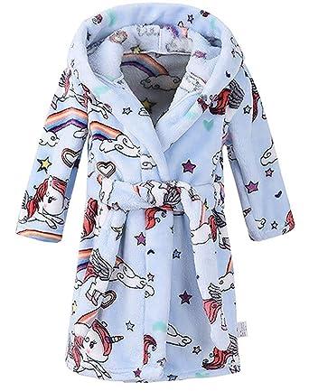 35780eeff99f4 Enfants Peignoir à Capuche imprimé Animal Robe de Chambre Douce Flanelle à  Capuchon Peignoir de Bain: Amazon.fr: Vêtements et accessoires
