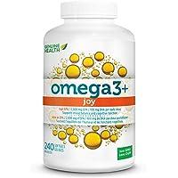 Genuine Health Omega3+ Joy Fish Oil Supplement Softgels, 2,000 mg EPA/100 mg DHA per daily dose, 240 Count