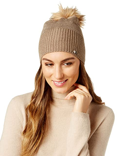 Steve Madden All That Shines Beanie Tan Gold at Amazon Women s ... a9e18962a3a