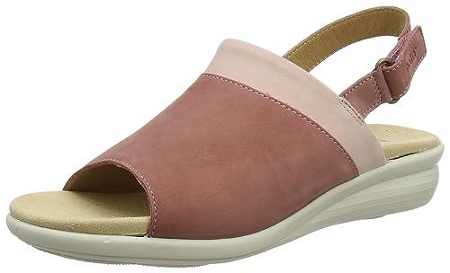 Hotter MAISES - Sandalias con Punta Abierta de Cuero Mujer, Color Rosa, Talla 38 amazon-shoes el-marron Cuero