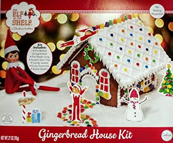 Christmas Gingerbread House Kit.Amazon Com The Elf On The Shelf An Elfs Story Christmas