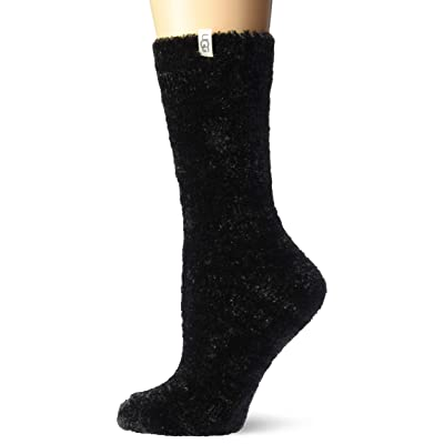 UGG Women's Leda Cozy Sock, Black, One Size at Women's Clothing store