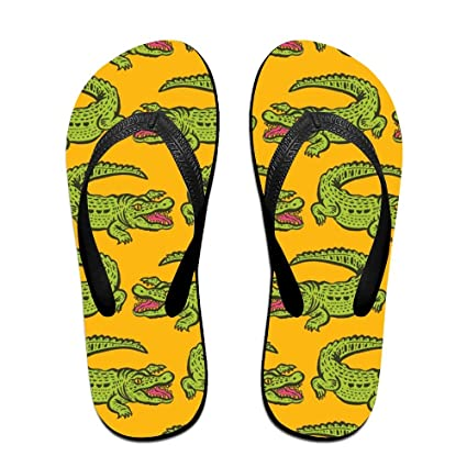 f2c6102124f723 Animals Crocodile Pattern Men s Flip Flops Fashion EVA Non-Slip Pool Sandal  Summer Outdoor Beach