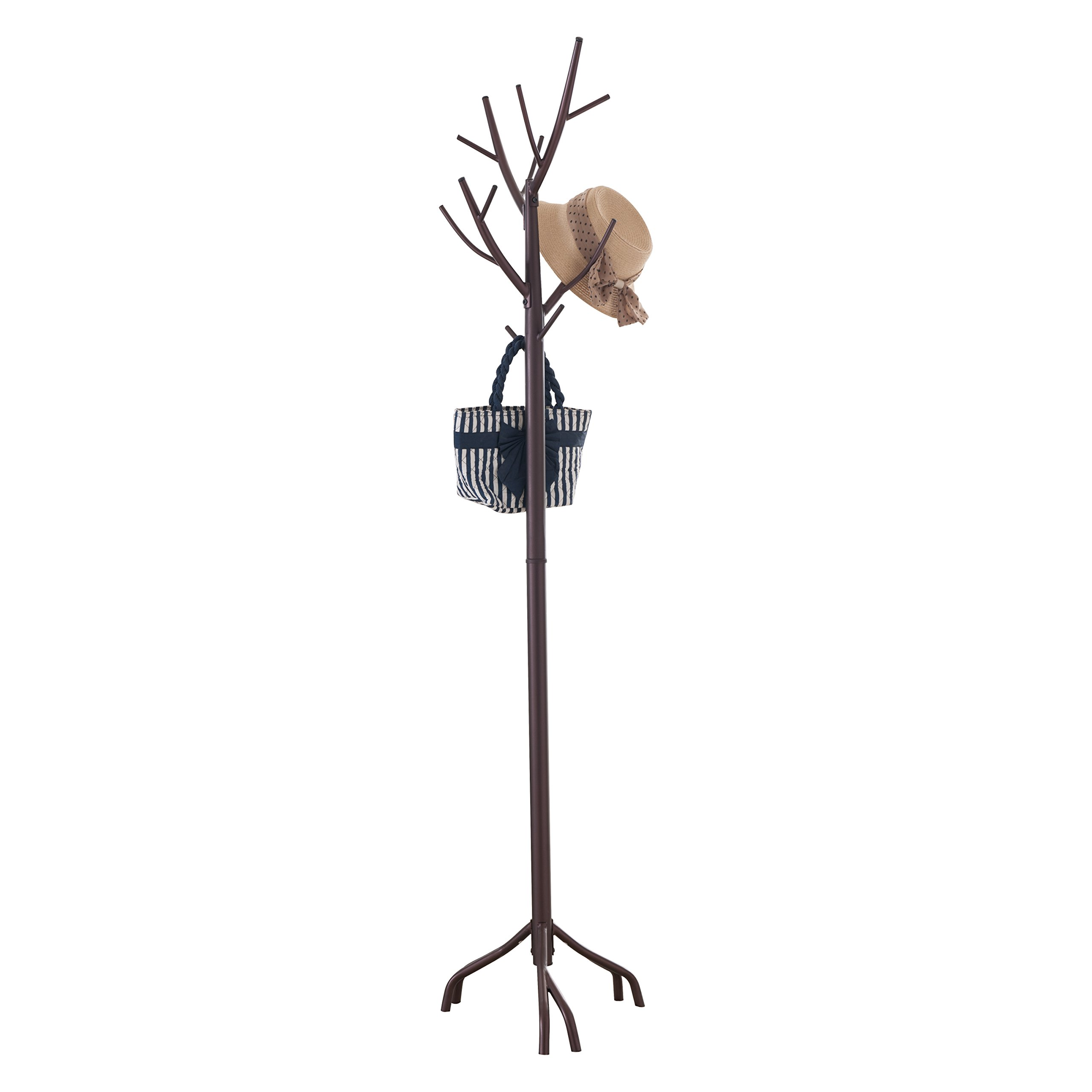 Pilaster Designs - Bronze Finish Metal Hall Tree Coat & Hat Rack with Branches