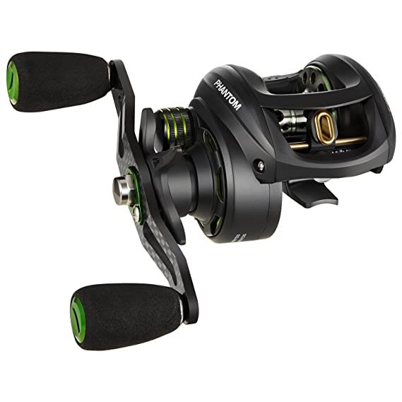 Piscifun Phantom Carbon Baitcasting Reel - Only 5.7oz, Our Lightest Baitcaster, 17LB Carbon Fiber Drag, 7.0:1 Gear Ratio, Dual Brakes Baitcast Fishing Reels, Incredible Cast Distance!