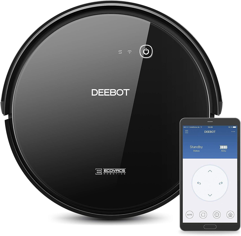 Ecovacs Deebot 601 - Robot Aspirador 4 en 1: barre, aspira, pasa mopa y friega, navegación inteligente, App, Wifi, 4 modos de limpieza, 2 niveles de succión, suelo duro, detecta obstáculos, negro: Amazon.es: Hogar