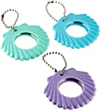 """Disney Ariel Seashell Compact Mirror Keychain Birthday Party Favours (12 Pack), Multi Color, 2 1/4"""" x 2 1/4""""."""