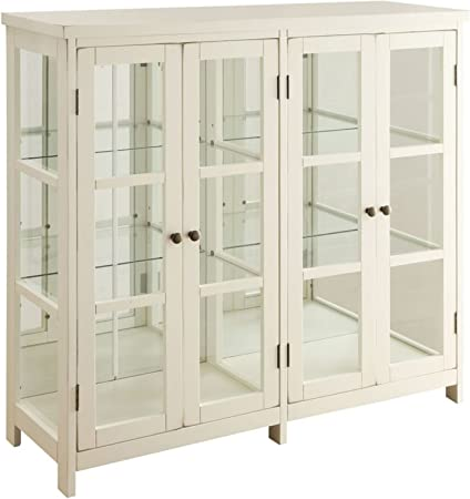 Coaster Home Furnishings Accent Display Cabinet, White