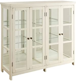 antique white curio cabinet Amazon.com: Coaster 910187 CO Company Of America Brookhaven Curio  antique white curio cabinet