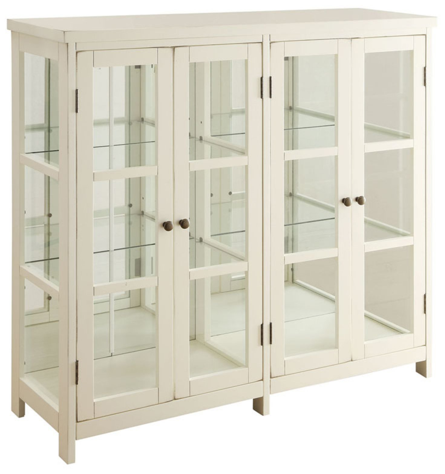 Coaster Home Furnishings Accent Display Cabinet, White by Coaster Home Furnishings