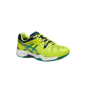 8a870a4751ea Asics Gel Resolution 6 nbsp Clay Gs Tennis Shoe (Lime   Green   Blue)