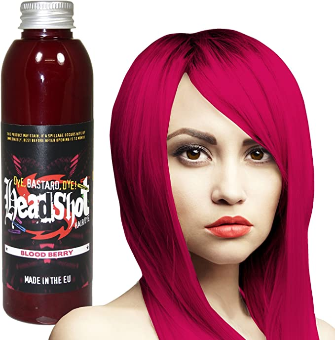 Headshot Tinte Capilar Semi-Permanente Fantasía de 150ml - Blood Berry Pink
