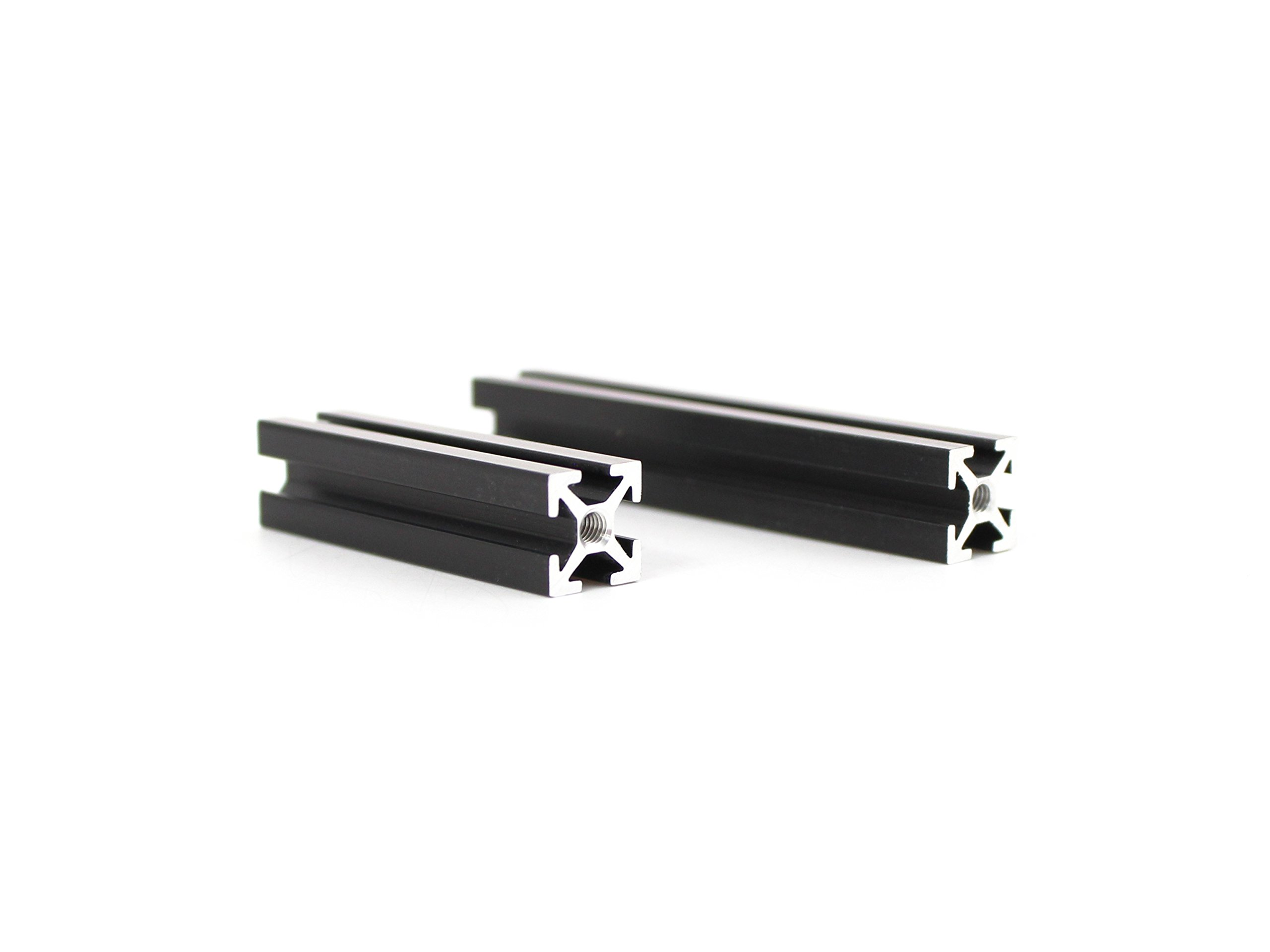 Makerbeam 40x10x10mm beam, black anodised (2 packs of 8 ) and 60x10x10mm beam, black anodised (2 pack of 8)