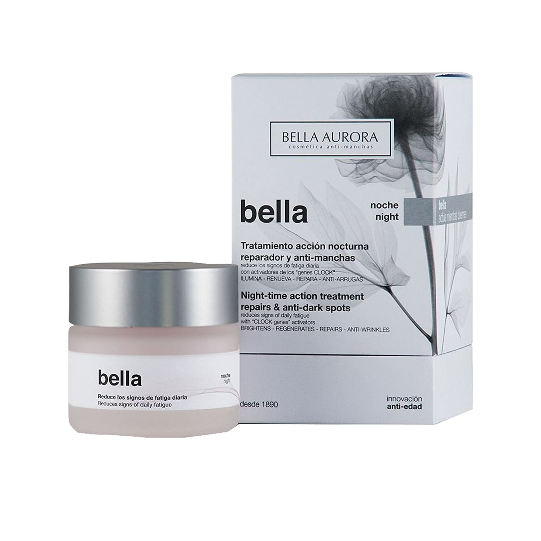 Bella Aurora Bella Crema Facial Noche Anti-Arrugas y Anti-Edad para Mujer Tratamiento Reparador Anti-Manchas de acción Nocturna, 50 ml: Amazon.es