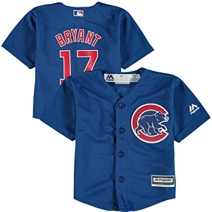 Majestic Kris Bryant Chicago Cubs Kids Cool Base Alternate Blue Replica  Jersey Small 4 4ea8bf733