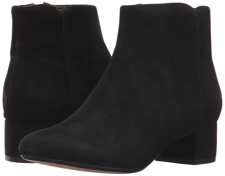 CLARKS Women's Chartli Lilac Ankle Bootie B01MYY5F3R 6.5 M US Black Suede