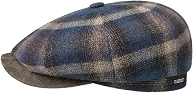 Stetson Gorra Hatteras Camanto Check Hombre - Made in The EU de ...
