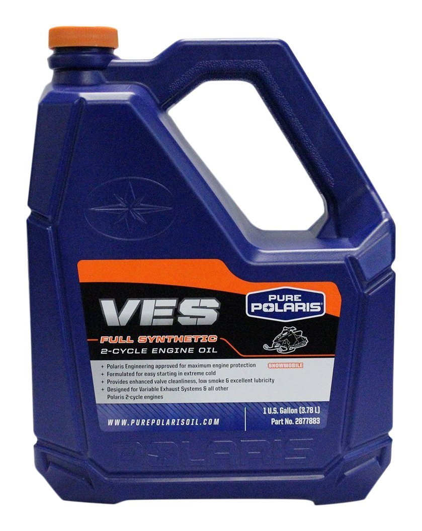 Polaris 1 Case of 4 Gallons OEM Polaris VES Gold Synthetic 2 Cycle Snowmobile Oil 2877883 by Polaris