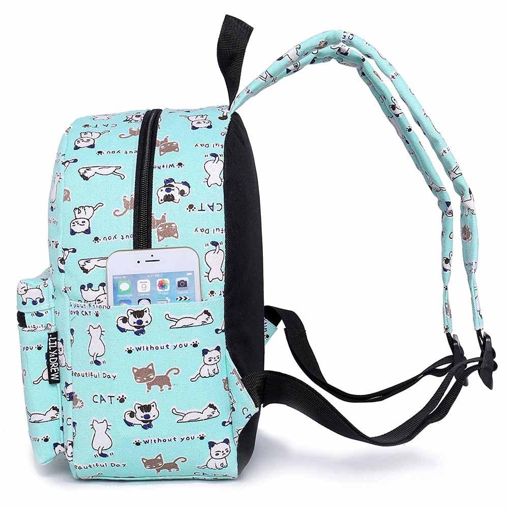 doginthehole Animals Kids Denim Cat Printing Travel Bag Children Shoulder Bags