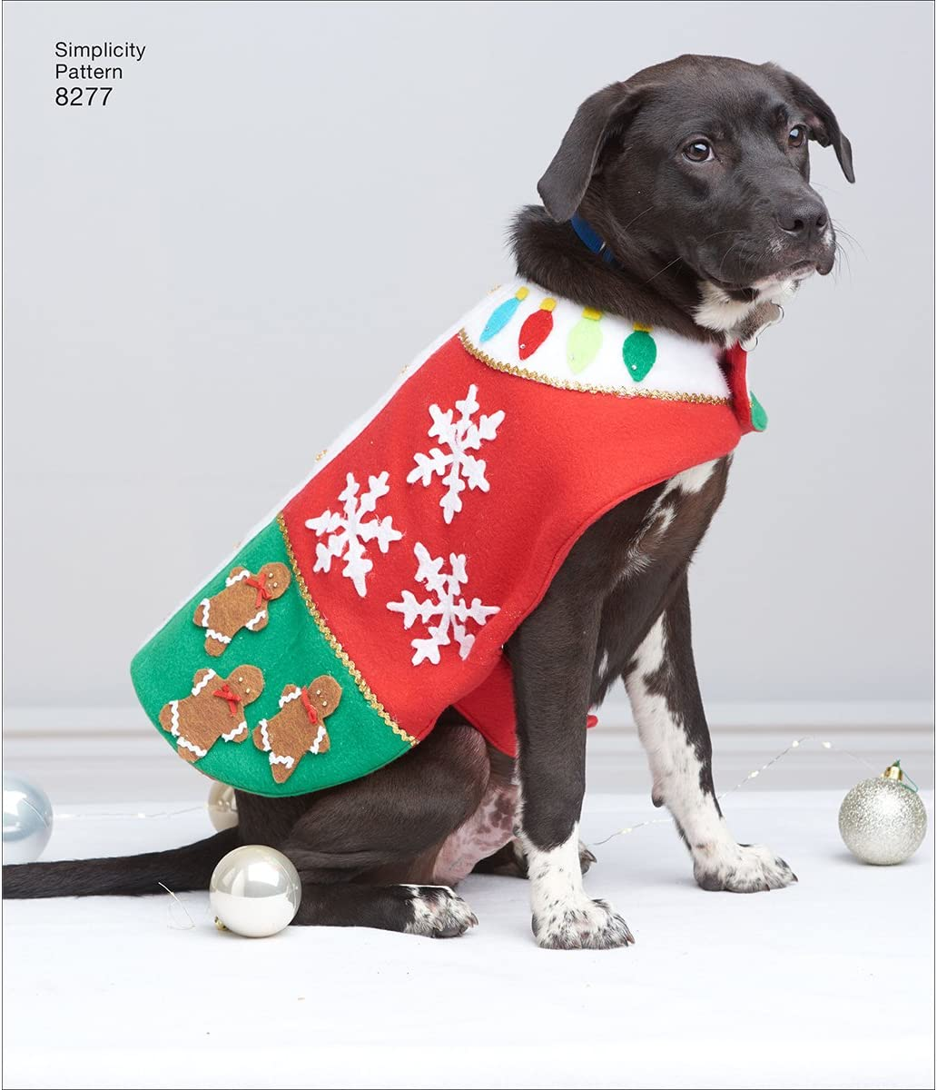 SIMPLICITY Sewing Pattern S8967 Dog Coats Paper White various