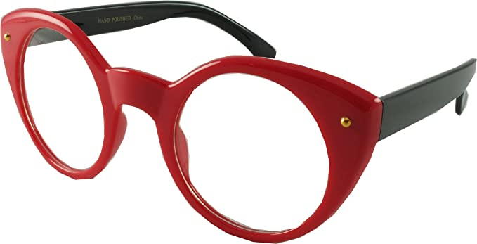 5c0125c752da Revive Eyewear Big Girls  40 s   50 s About Eve Retro Red Frame  Black Lens