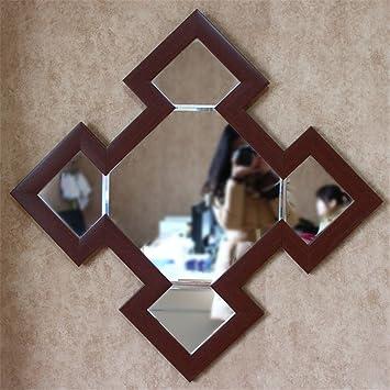 Chinesische Badezimmer Spiegel, Holz polygon Showroom Einhaltung der ...