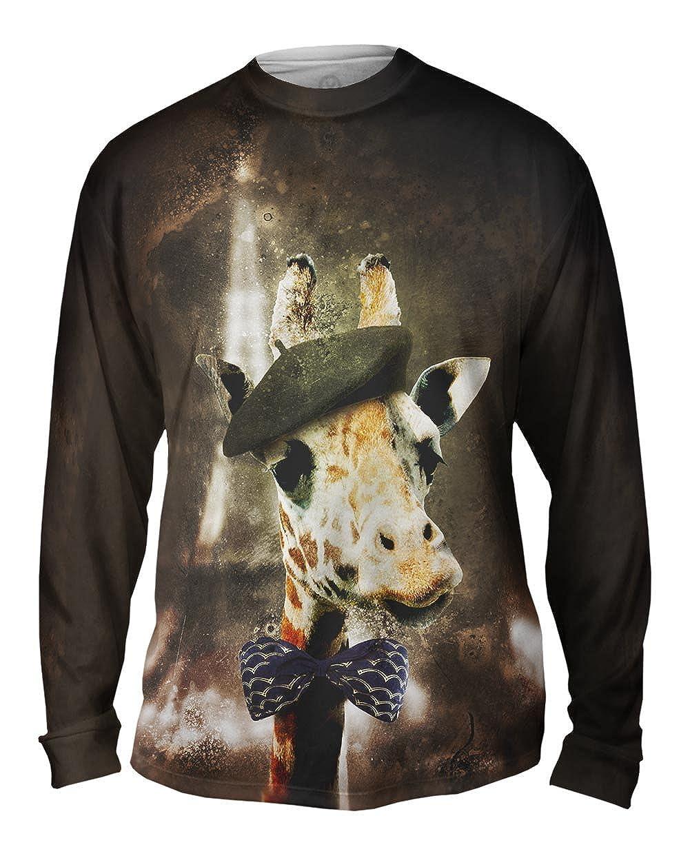 Mens Long Sleeve Yizzam Paris Giraffe TShirt
