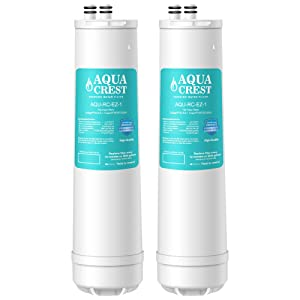 AQUACREST Water Filter, Compatible with Culligan RC-EZ-1, US-EZ-1, RV-EZ-1, Brita USF-201, USF-202, DuPont WFQTC30001, WFQTC70001 Water Filter, 3,000 Gallons (Pack of 2)