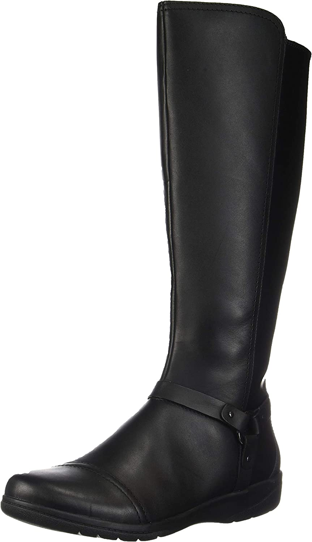 Clarks Women's Black Leather Boots Cheyn Meryl Fashion NEW Size 8