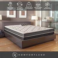 Komfortland Colchón viscosoft Reversible Memory Soft con 6 cm de Viscosoft, Altura 23 cm (Todas Las Medidas