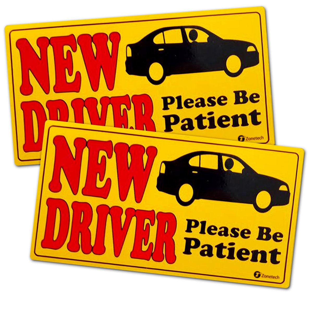 Zone Tech Student Driver Please Be Patient Magnet Safety Decal Caution Sign