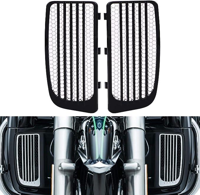 Motorcycles Radiator Grilles Compatible with 14-19 Harley-Davidson Twin Cooled FLHTK FLTRU FLHXSE FLHTCUTG