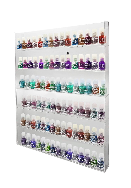 PC3721@ 1 pr/ésentoir Mural Pour Vernis /à ongles en acrylique brillant 394 x 305 x 51 mm