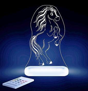Aloka Pferd Motiv Nachtlicht - Kinderzimmer Baby LED Lampe ...